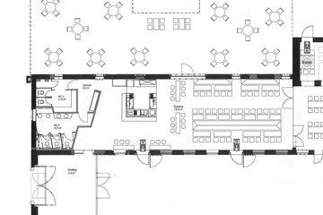 Raumplan Brauhaus und Gartenterrasse